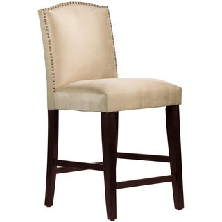 Skyline Furniture Premier Oatmeal Nail Button Arched Counter Stool