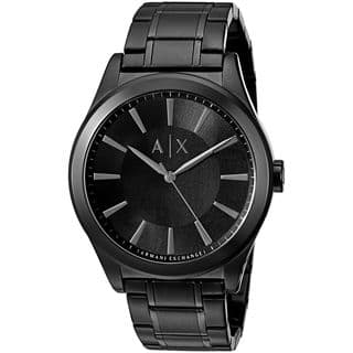 Armani Exchange Men's AX2322 'Smart' Black Stainless Steel Watch|https://ak1.ostkcdn.com/images/products/12710133/P19491580.jpg?impolicy=medium