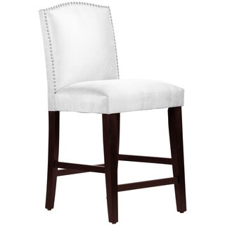 Skyline Furniture Premier White Nail Button Arched Counter Stool
