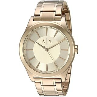 Armani Exchange Men's AX2321 'Smart' Gold-Tone Stainless Steel Watch