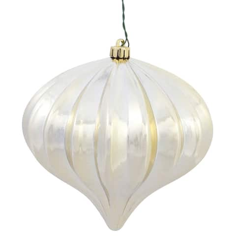 """5.7"""" Champagne Shiny Onion Ornament (Pack of 3)"""