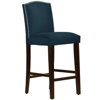 Skyline Furniture Premier Navy Nail Button Arched Bar Stool