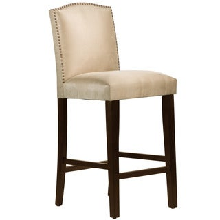 Skyline Furniture Premier Oatmeal Nail Button Arched Bar Stool