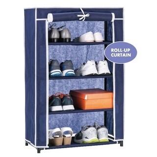 4-tier Shoe Closet with Roll-up Door