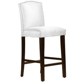 Skyline Furniture Premier White Nail Button Arched Bar Stool