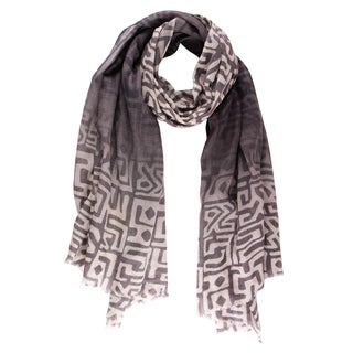 Saachi Abstract Wool Scarf (India)