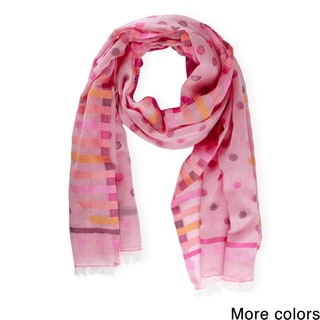 Handmade Saachi Multi Print Cotton Scarf (India)