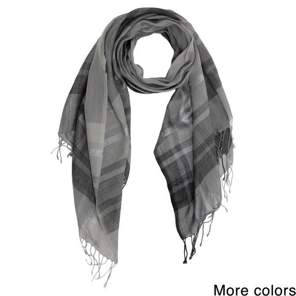 8f27056a757 Shop Handmade Saachi Plaid Wool Blend Scarf (India) - On Sale - Free ...