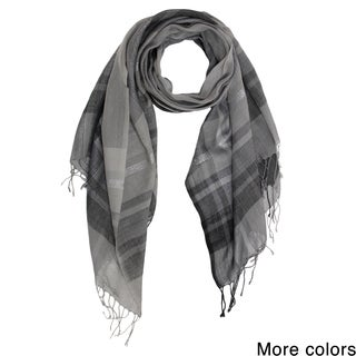 Saachi Plaid Wool Blend Scarf (India)