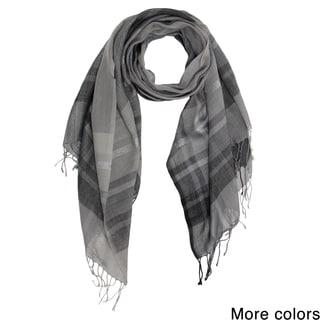 Saachi Plaid Wool Blend Scarf (India)