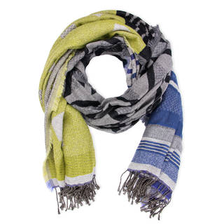 Saachi Women's Wool-Blend Reversible Scattered Diamond Scarf (India)