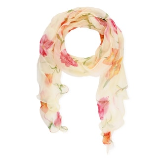 Saachi Floral Silk Scarf (China)