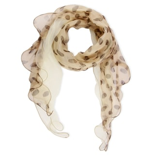 Handmade Saachi Polka Dot Silk Scarf (China)