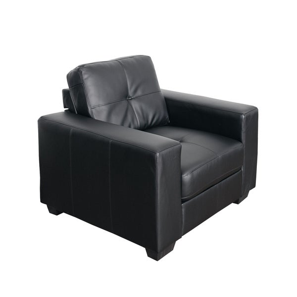 CorLiving Tufted Bonded Leather Armchair
