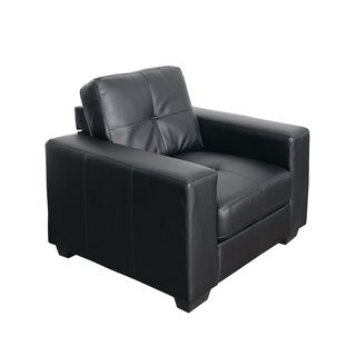 CorLiving Club Tufted Bonded Leather Chair