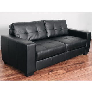 CorLiving Club Tufted Bonded Leather Sofa
