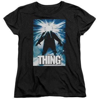Thing/Poster Short Sleeve Women's Tee in Black