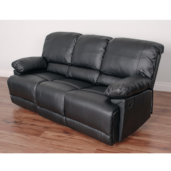 Shop Corliving Lea Bonded Leather Reclining Sofa Free