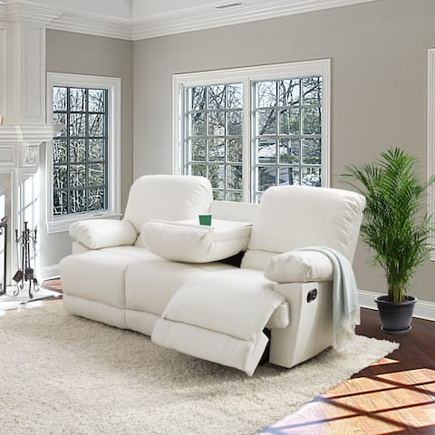 CorLiving Lea Bonded Leather Reclining Sofa