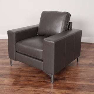 CorLiving Cory Contemporary Bonded Leather Arm Chair (Option: Brown)