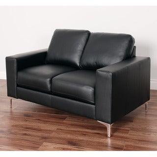 Cory Contemporary Bonded Leather Loveseat