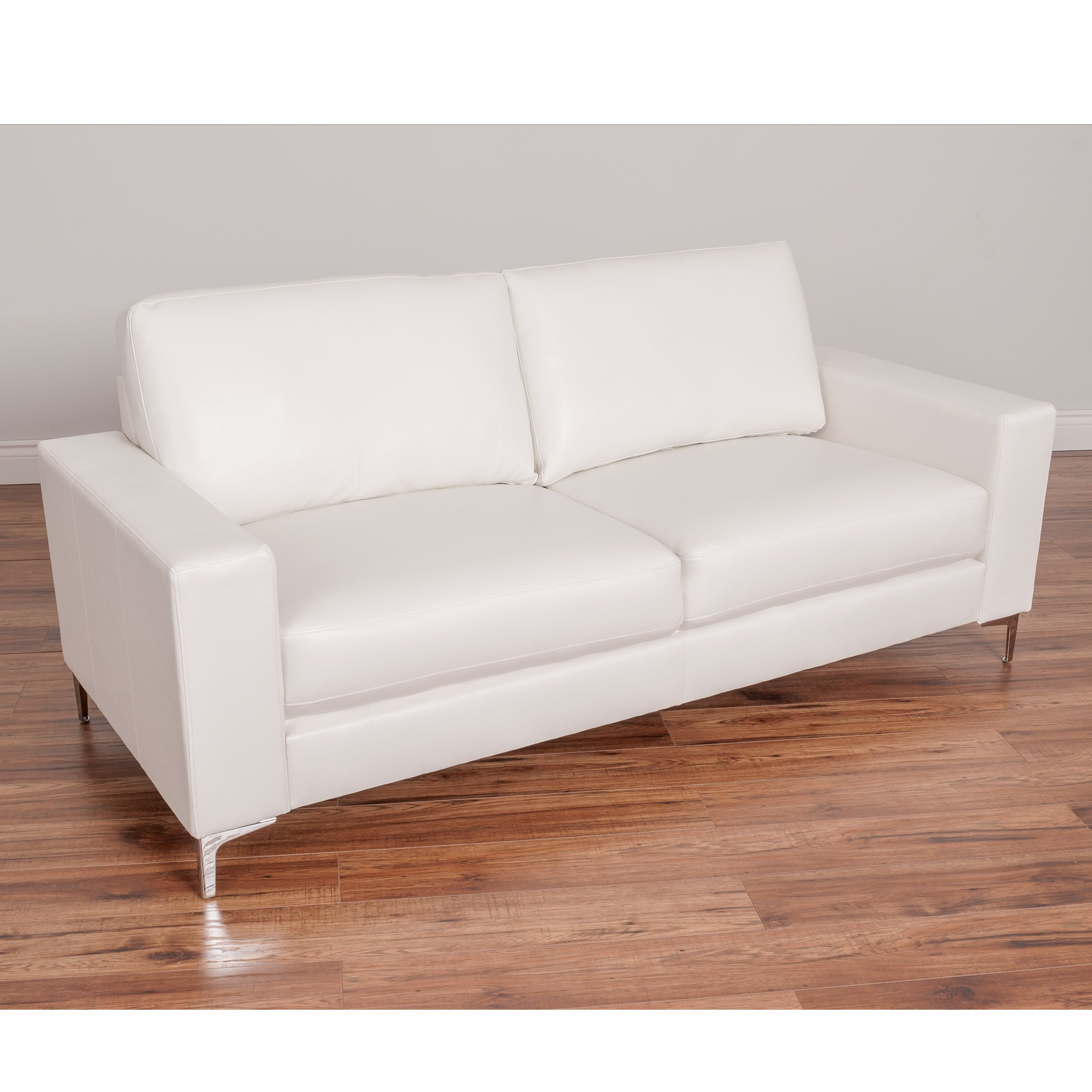CorLiving Cory Contemporary Bonded Leather Sofa (Option: White)