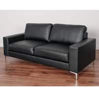 CorLiving Cory Contemporary Bonded Leather Sofa - wood/foam