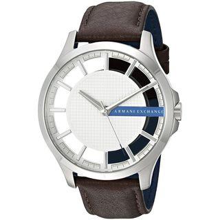 Armani Exchange Men's AX2187 'Smart' Brown Leather Watch