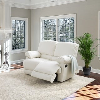 CorLiving Lea Bonded Leather Reclining Loveseat