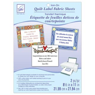 June Tailor Cotton Fabric Quilt Label Sheets|https://ak1.ostkcdn.com/images/products/12710426/P19491766.jpg?impolicy=medium