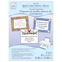 June Tailor Cotton Fabric Quilt Label Sheets - White