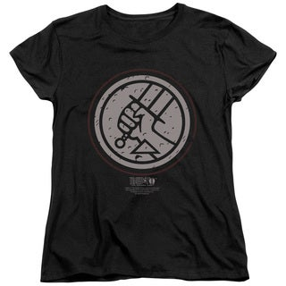 Hellboy Ii/Mignola Style Logo Short Sleeve Women's Tee in Black