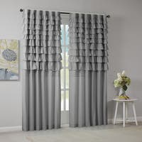 The Gray Barn Maxton Grey Ruched Window Curtain Panel