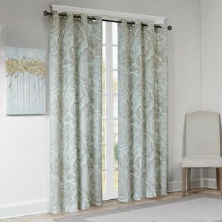 The Gray Barn Yturria Blue Cotton Printed Paisley Curtain Panel