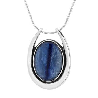 Sterling Silver and Kyanite Pendant Necklace