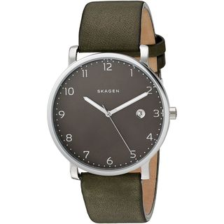 Skagen Men's SKW6306 'Hagen' Green Leather Watch