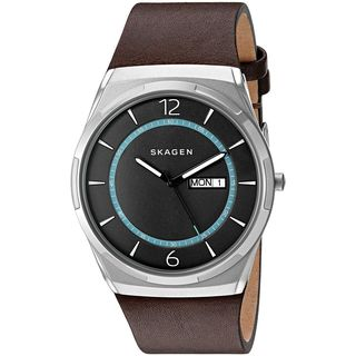 Skagen Men's SKW6305 'Melbye' Brown Leather Watch