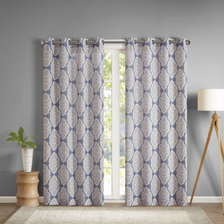 Madison Park Luna Texture Printed Curtain Panel
