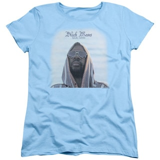 Isaac Hayes/Black Moses Short Sleeve Women's Tee in Light Blue