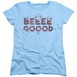 ET/Be Good Short Sleeve Women's Tee in Light Blue