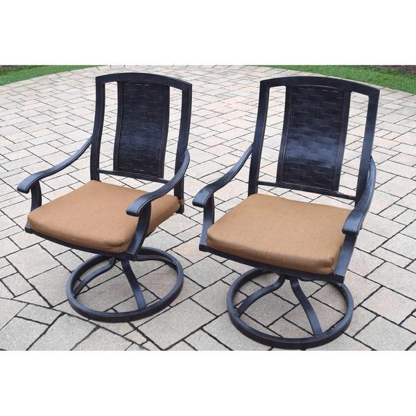 Sunbrella Aluminum Swivel Rocker Dining Chairs (Set Of 2)