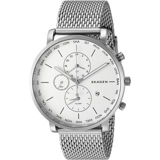 Skagen Men's SKW6301 'Hagen World Time and Alarm' Chronograph Stainless Steel Watch