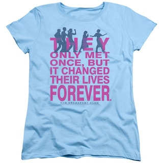 Breakfast Club/Forever Short Sleeve Women's Tee in Light Blue