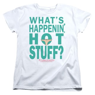 Breakfast Club/Whats Happenin Short Sleeve Women's Tee in White
