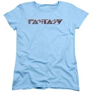 Fantasy 80's Short Sleeve Women's Tee in Light Blue
