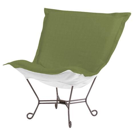 Seascape Moss Scroll Puff Chair