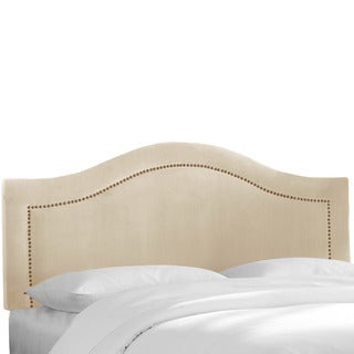 Skyline Furniture Velvet Pearl Inset Nail Button Headboard