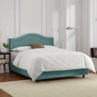 Skyline Furniture Velvet Caribbean Inset Nail Button Bed
