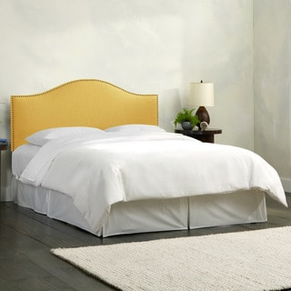 Skyline Furniture Linen French Yellow Nail Button Headboard