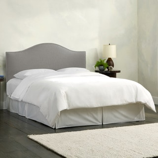 Skyline Furniture Linen Grey Nail Button Headboard
